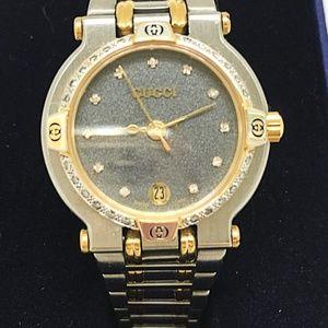 Gucci 9000L Diamond Dial & 24 Diamond Bezel Date